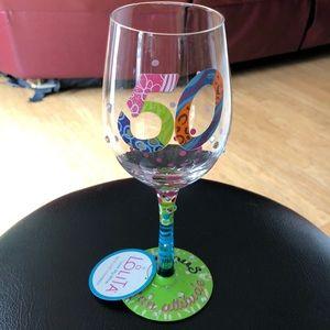 New Lolita 50 Fabulous is an Attitude Wine Glass